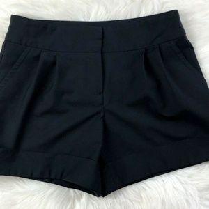 Trina Turk Black Pleated Front Wool Blend Short 2
